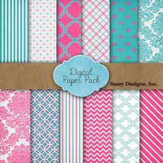 FREE Digital Paper Pack from Pretty Presets - Celebrating 100,000 Friends on Facebook