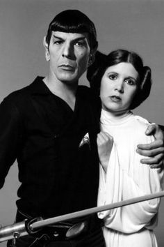 Star Trek Star Wars Spock & Princess Lia