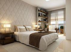 Na busca por inspiração de quartos com tons neutros, logo nos deparamos com projetos da arquiteta brasileiraDebora Aguiar, de quem já falamos aqui algumas