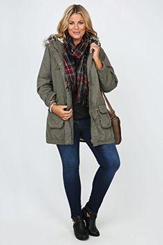 Fashion Bug Plus Size Womens Cotton Twill Parka With Fur Trimmed Hood And Fleece Lining www.fashionbug.us