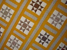 antique quilt with interesting sashing