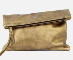 Oversized Metallic Fold Clutch. www.mooreaseal.com