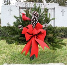 christmas flowers for cemeteries