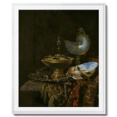 """Pronk Still Life with Holbein Bowl, Nautilus Cup, Glass Goblet and Fruit Dish"" by Willem Kalf - High quality reprint of original Paul Cezanne painting ""Vista de Auvers sur Oise (View of Auvers-sur-Oise)"". This is one of the most famous paintings by Paul Cezanne. The reprint of this Paul Cezanne painting is available with Elite Gifting at best price. This is the painting most suitable for corporate gifting as well as retail sell."