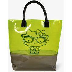 Clear Hello Kitty Tote ($17) via Polyvore