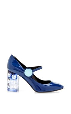 Navy Carnaby Mary Jane by Nicholas Kirkwood for Preorder on Moda Operandi