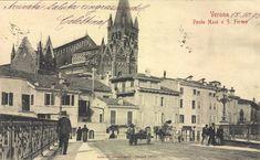 Verona - La Chiesa di San Fermo vista dal Ponte Navi - 12-10-1903