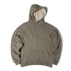 Man Si Tun Mens Oversized Sherpa Hoodies 3 Colors Side Split Streetwear Fog Fleece Zipper