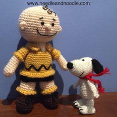 Charlie Brown y Snoopy amigurumi pattern http://www.needleandnoodle.com