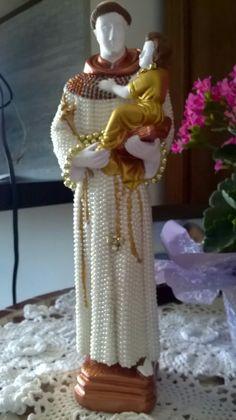 Santo Antônio com Menino Jesus. 25cm. $130,00