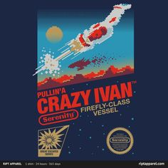 [ Crazy Ivan ] has just appeared on www.ShirtRater.com! Do you like this shirt?  #cartridge #classic #firefly #game #games #gaming #geeks #geeky #nerds #nerdy #nes #nintendo #sci fi #serenity #shirt #space #t shirt #tees #tv #tv series #tv show