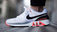 #Nike Air Stab White Black Hot Lava #sneakers