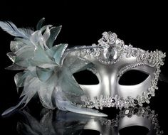 Silver Flower Venetian Costume Masquerade