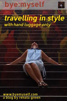 Carrying only hand luggage makes travelling so much easier - and cheaper if you have to pay for checking baggage. Here is a complete list of what bring on a trip of up to two weeks - including many ideas and hacks.travelling in style - with #handluggage only  - #carryon #travel #traveltips #fashion  #travelling #tourism #TSA #flying #travelinstyle #globetrotter #solotravel #byemyself #byemyselftravels #femaletravel  #handluggage #luggage