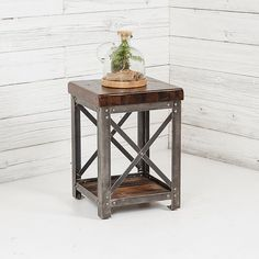 Signature Dark Walnut End Table from Urban Farmhouse Designs in OKC. LOVE THAT PLACE!