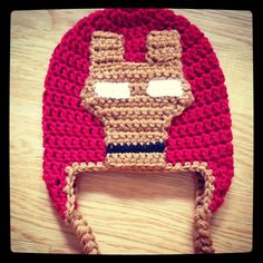 As promised… Here's the FREE pattern for the Iron Man hat faceplate. Please keep in mind that this pattern in ONLY for the faceplate. There are many free patterns available online for simple croche...