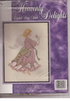 Heavenly Delights Counted Cross Stitch Kit Plum Angel  402 Sugarplum Express  #TheSugarplumExpress #Picture
