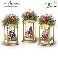 Shop great selection of rare Thomas Kinkade gifts and collectibles at The Bradford Exchange. We have Exclusive collection of art of Thomas Kinkade featuring on Limited Edition collectibles, Paintings, Home Decor and more. Christmas Lanterns, Christmas Nativity, Outdoor Christmas Decorations, Christmas Centerpieces, Blue Christmas, Christmas Home, Christmas Wreaths, Christmas Crafts, Christmas Ornaments
