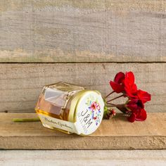 Personalised wedding favours/bonbonniere honey