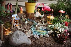 Whoa! Tropical fairy paradise!  Our broken road: Summer Magic- Fairy Garden Contest