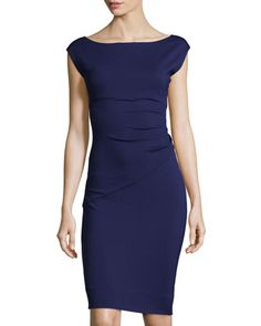 Boat-Neck Cap-Sleeve Dress, Purple Haze by Diane von Furstenberg at Neiman Marcus Last Call. $160.30