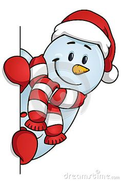 Funny snowman hiding behind the blank. Funny snowman hiding behind the blank. Christmas Rock, Christmas Colors, Christmas Themes, Holiday Crafts, Christmas Decorations, Funny Snowman, Illustration Noel, Christmas Cartoons, Christmas Coloring Pages