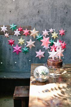 3-D Sterne falten mit Anleitung