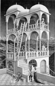 Belvedere (物見の塔) : マウリッツ・エッシャーの錯視絵・作品ギャラリー【だまし絵】 - NAVER まとめ