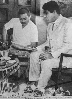 Pakistani filmstar Allauddin (Late) & Director Riaz Shahid (Late).