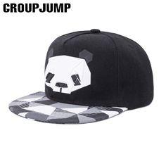 0628d1ac790 GROUP JUMP New Fashion Snapback Caps Women Men Baseball Cap Unisx Hip Hop  Hat Cute Panda Outdoor Baseball Hat Adjustable Hats-in Baseball Caps from  Men s ...