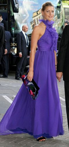 Tatiana: Andrew GN purple dress I wore to Crown Princess of Holland's 40th last year.