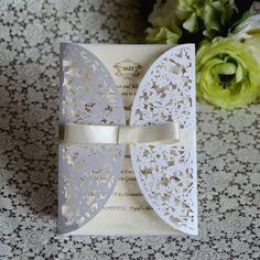 2015 New Design Laser Die Cut Wedding Invitations