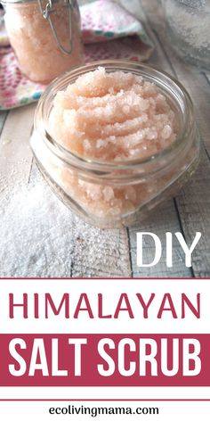 You HAVE to check out these easy but amazing Himalayan salt scrub recipes! Body scrubs make great gifts, are SO simple to DIY and can be made in almost any scent with essential oils. Try the Margarita salt scrub, lavender + vanilla, rose, citrus burst or Salt Scrub Recipe, Body Scrub Recipe, Diy Body Scrub, Diy Scrub, Diy Exfoliating Face Scrub, Natural Body Scrub, Hand Scrub, Sugar Scrub Diy, Neutrogena