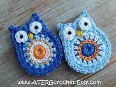 OWL MAGNET set royal/blue by ATERGcrochet