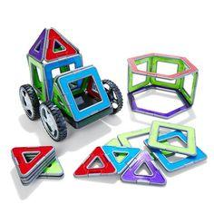 Magnetic Geometric Tiles | Kmart $25