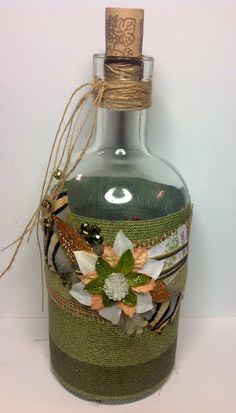 An up cycled a bottle I made for me etsy shop,  www.suzannebwebb.etsy.com