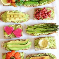 Saturday is healthy day. We are totally in love with these avocado toasts and different toppings.  Found @alphafoodie  #alphafoodie #healthy #healthylife #healthylifestyle #vegan #foodporn #foodstagram #fruits #superfood #gojiberry #berries #organic #vegetarian #healthyfood #eatclean #greens #ilovegreens #healthyandfresh #healthyandfreshfood #veggies #veggielover #veggielicious #veggietales #veggieporn #veggiebowl #veggiefood #veggiefoodporn #salad #saladaddict