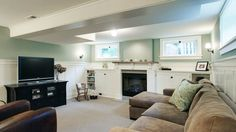 Simply stunning basement remodel with early 20th century charm. More