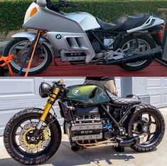 Have a look at a number of my favorite builds - custom scrambler ideas like motorcyles hot rods crotchrockets speed kawasaki harley race motorbike bike Bmw Cafe Racer, Cafe Bike, Cafe Racer Build, Bmw Scrambler, Cool Motorcycles, Vintage Motorcycles, Cafe Racer Motorcycle, Motorcycle Types, K100 Bmw