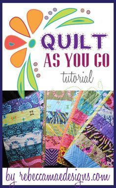 How to join quilt blocks using the quilt as you go method.