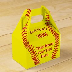 Personalized Softball Favor Box YOUR TEXT, COLORS