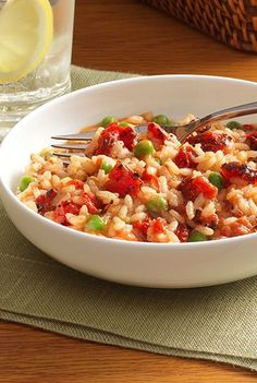 A easy no-stir tomato risotto recipe flavored with fire roasted tomatoes with garlic and Parmesan cheese Kraft is a brand of Kraft Foods Inc.