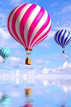 ♥ hot air balloons!