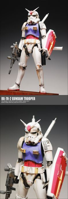 star wars Gundam Stormtrooper custom