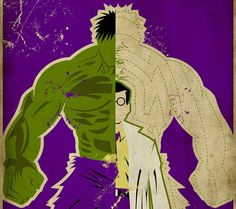 Comic Superheroes with Split Personalities - The Incredible Hulk / Bruce Banner