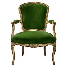 French Louis XV Style Armchair - The Salvation Army had two chairs just like… Steel Furniture, French Furniture, Dining Furniture, Furniture Design, Home Furniture, Furniture Removal, French Chairs, French Armchair, Cozy Chair