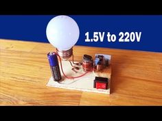 How to make easy inverter 1.5V to 220 Circuit at home - inverter 1.5V to 220V diagram - YouTube