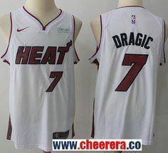 Men s Nike Miami Heat  7 Goran Dragic White NBA Swingman Association  Edition Jersey b50cfe163