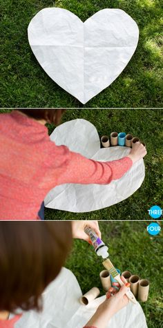 Paper Heart DIY Tutorial by Naturally Yours Events – Style Me Pretty
