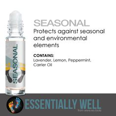 Seasonal - Protects against seasonal and environmental elements #essentiallywell #diykit #makeandtakekit #essentialoils #reflexology
